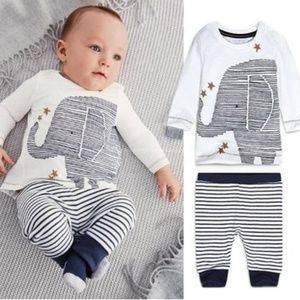 """Other - Baby two piece outfit """"elephant"""" 3-6, 18, 24 mo."""